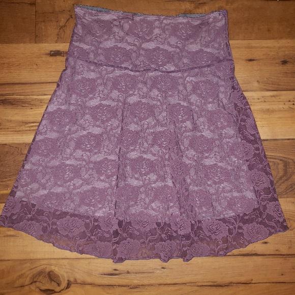 Dresses & Skirts - A-line purple flower print skirt